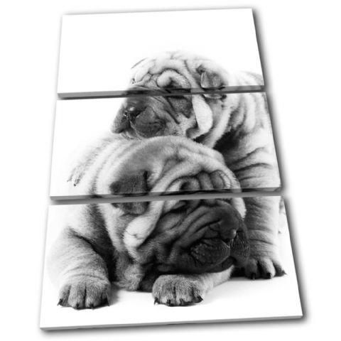 Pug Puppies Dog Animals - 13-1646(00B)-TR32-PO